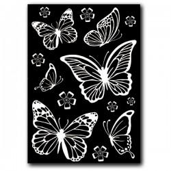 stamperia decotransfer a-5 biały DFTD01 motyle
