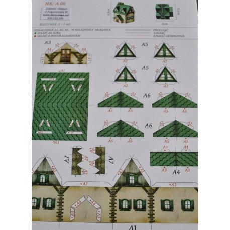 kartonowa makieta domki A4