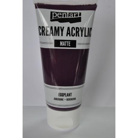 ***pentart farba creamy bakłażan mat 60 ml