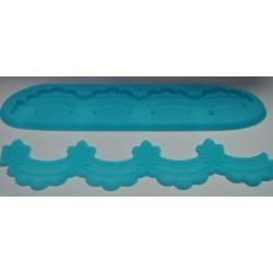 odlewy silikonowe koronka dwustronna 22*6 cm
