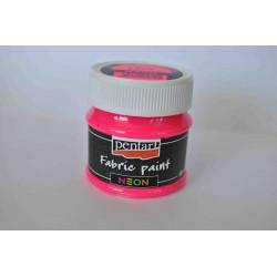 pentart farba do tkanin 50 ml róż neon