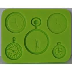 deco odlewy silikonowe zegary 5 szt.fi.2-3cm