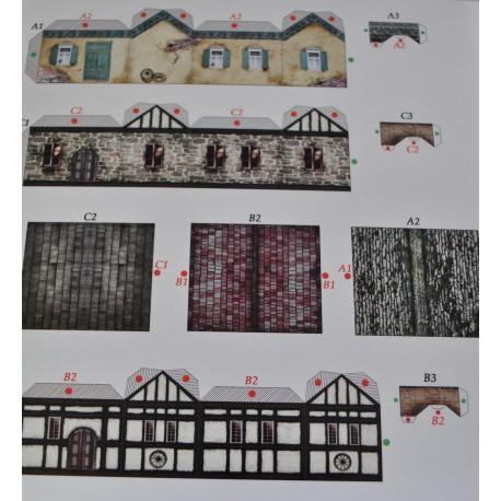 kartonowa makieta 3 domki 2,3*4 cm