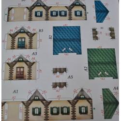 kartonowa makieta 2 domki 4,3*5,2 cm