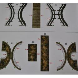 kartonowa makieta 2 mosty 6,7*2,6 cm