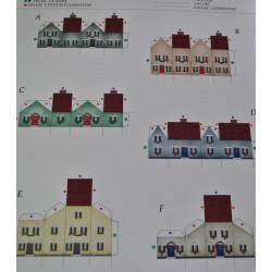kartonowa makieta 6 domki mikro 1,8*2,5 cm