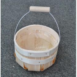 ***koszyk z rączką łuba 14*14*20 cm