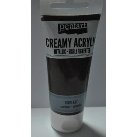 ***pentart farba creamy met.bakłażan. 60 ml