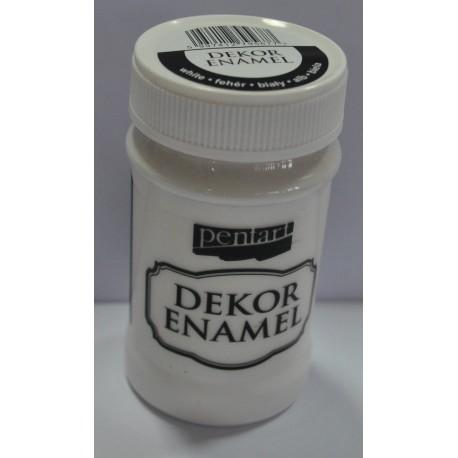 pentart farba emalia dekor biała 100 ml