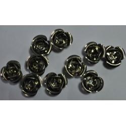 sz.metal różyczka 2cm/10 szt
