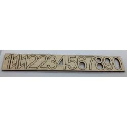 *** cyferki drewniane 2.3cm