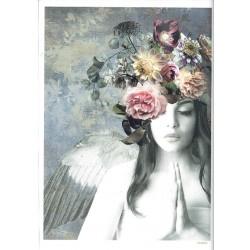 ***papier cienki A-5 4698 dziewczyna anioł