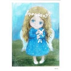 ***papier cienki A-5 2175 dziewczynka anioł