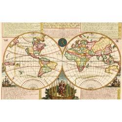 papier ryżowy 54*33 mapa świata