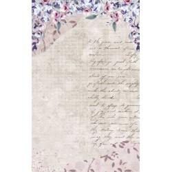papier ryżowy 54*33 pismo, kwiaty, krata