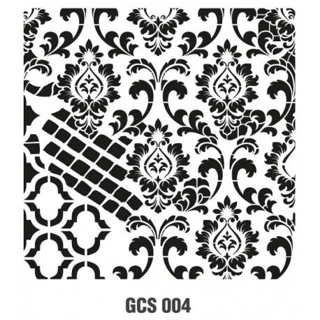 ***cadence szablon 45*45 cm pismo GCS 004