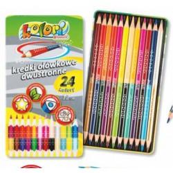 kredki ołówkowe dwustronne super jumbo 24k