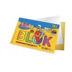 blok rysunkowy  A-4/12 kolor pastello