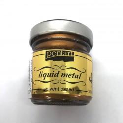 pentart płynny metal brąz 30 ml
