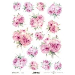 *** papier ryżowy A-4 R1689 róże akwarelka