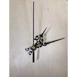 mechanizm do zegara- długi gwint, zdobne wskazówki
