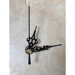 mechanizm do zegara- krótki gwint, zdobne wskazówk