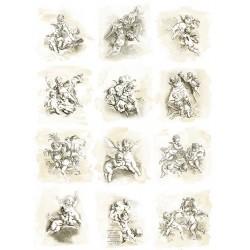 *** papier ryżowy A-4 R1694 aniołki