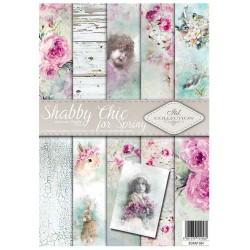 ***zestaw papierów scrap054 `schabby chick-akwarel