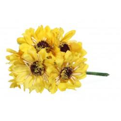 bukiet żółtych kwiatów/ pęczek