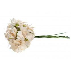 *** bukiet piankowych kwiatów-krem