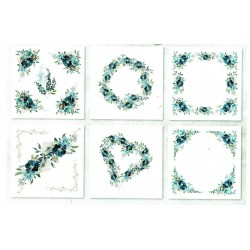 *** zestaw papierów mini 14,8*14,8cm kwiaty akware