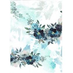 *** papier ryżowy A-4 R1730 kwiaty akwarelka