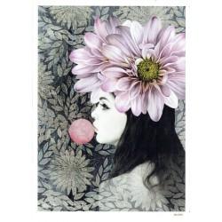 ***papier cienki A-5 4700 dziewczyna z kwiatem