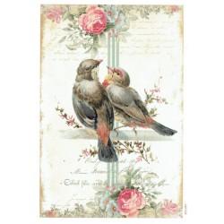 ***papier cienki A-5 1467 zakochane ptaki
