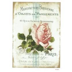 ***papier cienki A-5 1294 róża vintage