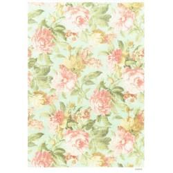 ***papier cienki A-4 2086 tło kwiatowe