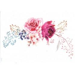 ***papier ryżowy A-5 2315 róża kwiaty