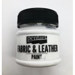pentart farba do tkanin i skór 50ml biała