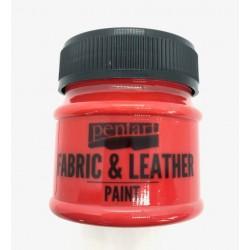 pentart farba do tkanin i skór 50ml czerwona