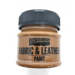 pentart farba do tkanin i skór 50ml c.brązowy