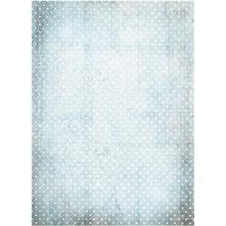 ***papier ryżowy A-4 R1740 kropeczki błękit