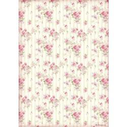 ***papier ryżowy A-4 różyczki DFSA4505