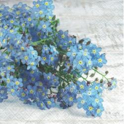 ***serwetka 33*33 K160 niebieskie kwiaty