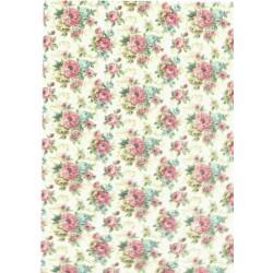 ***papier ryżowy A-4 tło kwiaty 3117