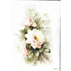 ***papier cienki A-4 bukiet kwiaty 0111