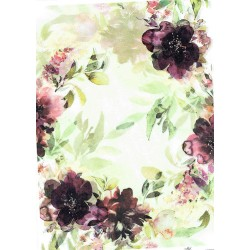 ***papier ryżowy A-4 R 1750 kwiaty akwarela
