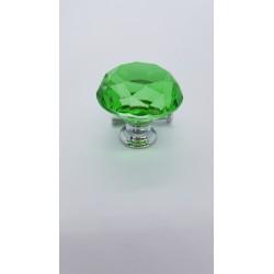***sz.metal gałka szklana 3*3 cm.zieleń