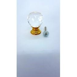 ***sz.metal gałka szklana 3*2 cm