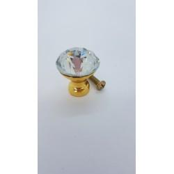 ***sz.metal gałka szklana 2,8*2,7 cm