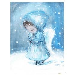 ***papier cienki A-5 2217 śnieżny aniołek